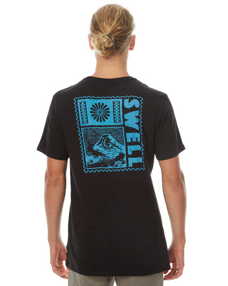 BLACK MENS CLOTHING SWELL TEES - S5161005BLK