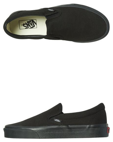 BLACK BLACK MENS FOOTWEAR VANS SLIP ONS - SSVN-0EYEBKAM