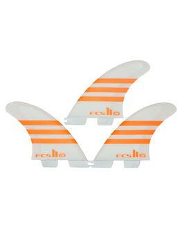 ORANGE WHITE BOARDSPORTS SURF FCS FINS - FJWM-PC03-MD-TS-RORG