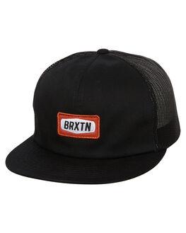 BLACK MENS ACCESSORIES BRIXTON HEADWEAR - 00878BLK