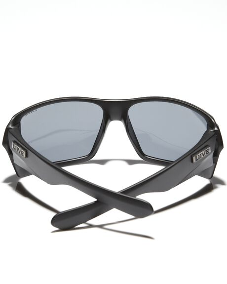 MATT BLACK MENS ACCESSORIES LIIVE VISION SUNGLASSES - LI00305MAT