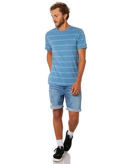 MID BLUE MENS CLOTHING RIP CURL TEES - CTESA28962