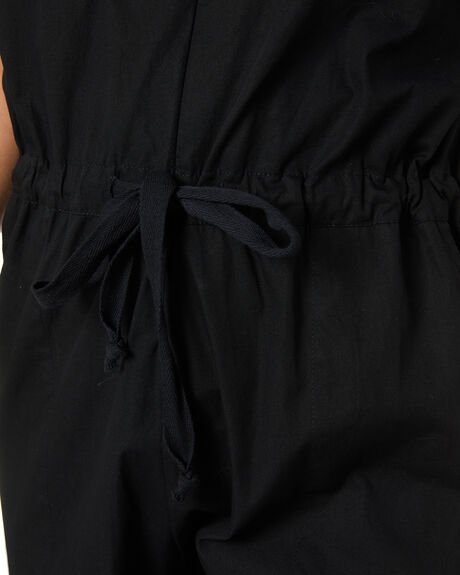 BLACK WOMENS CLOTHING LILYA PLAYSUITS + OVERALLS - LS20-JS01-TCBLK