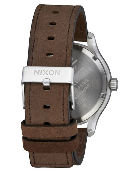 SILVER BROWN MENS ACCESSORIES NIXON WATCHES - A12431113