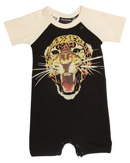 BLACK KIDS BABY ROCK YOUR BABY CLOTHING - BBROCKFOREVERBLK