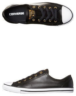 BLACK GOLD WOMENS FOOTWEAR CONVERSE SNEAKERS - 555839BLKG1