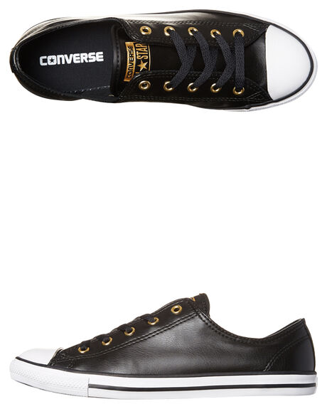 a2b92365067 Converse Womens Chuck Taylor All Star Dainty Shoe - Black Gold ...
