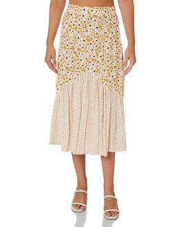 POSEY FLORAL TOBACCO WOMENS CLOTHING RUE STIIC SKIRTS - RWS-19-37-3PTCTM