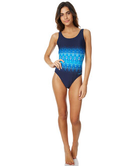 NAVY MULTI WOMENS SWIMWEAR ZOGGS ONE PIECES - 1012175NVMLT