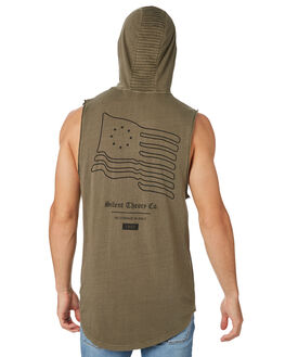 KHAKI MENS CLOTHING SILENT THEORY SINGLETS - 4022106KHAKI