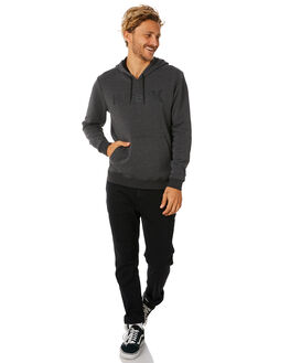 BLACK HEATHER MENS CLOTHING HURLEY JUMPERS - AQ0773032