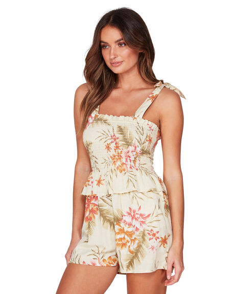 PISTACHIO WOMENS CLOTHING BILLABONG PLAYSUITS + OVERALLS - BB-6507514-PIS