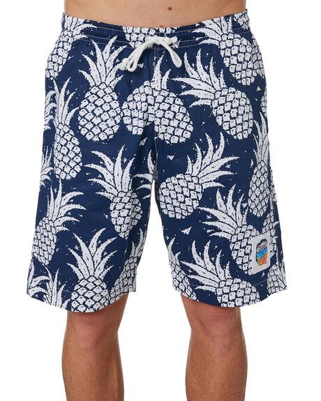 NAVY MENS CLOTHING OKANUI BOARDSHORTS - OKBOPANVNVY