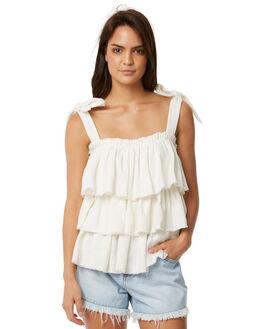 WHITE LINEN WOMENS CLOTHING WILDE WILLOW FASHION TOPS - K351-WWHT