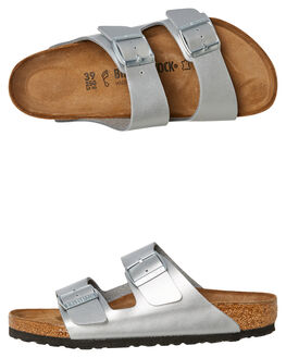 SILVER WOMENS FOOTWEAR BIRKENSTOCK FASHION SANDALS - 1012282SIL