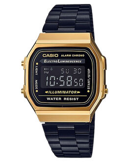 BLACK GOLD WOMENS ACCESSORIES CASIO WATCHES - A168WEGB-1BBLKGD