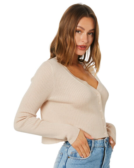 ALMOND WOMENS CLOTHING NUDE LUCY KNITS + CARDIGANS - NU24231ALD