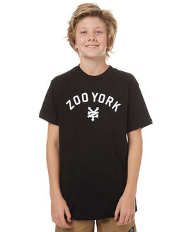 BLACK KIDS BOYS ZOO YORK TEES - ZY-YTC7133BLK