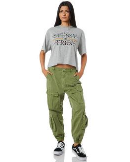 GREY MARLE WOMENS CLOTHING STUSSY TEES - ST195022GRMAR