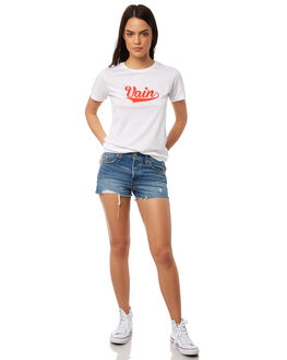 WHITE WOMENS CLOTHING TEE INK TEES - CAW1020WHT