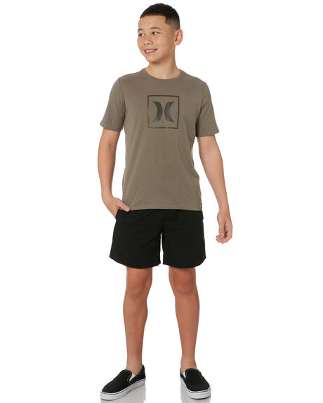 OLIVE GREY KIDS BOYS HURLEY TOPS - CW1322067