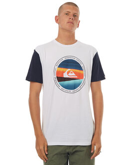 WHITE MENS CLOTHING QUIKSILVER TEES - EQYZT04579WBB0