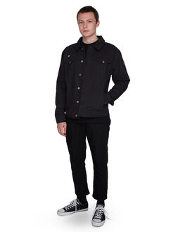 FLINT BLACK MENS CLOTHING ELEMENT JACKETS - EL-107465-IFL