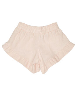 LINEN BLUSH KIDS GIRLS SWEET CHILD OF MINE SHORTS + SKIRTS - SP18BELLASHRTBLSH