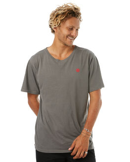 FADED GREY MENS CLOTHING THRILLS TEES - TR7-101GFGRY