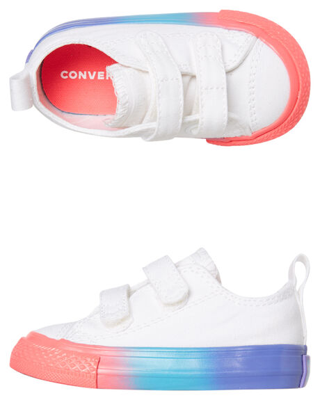 WHITE KIDS GIRLS CONVERSE SNEAKERS - 764275CWHT