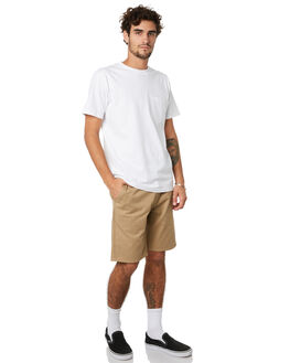 KHAKI MENS CLOTHING BRIXTON SHORTS - 04089KHAKI