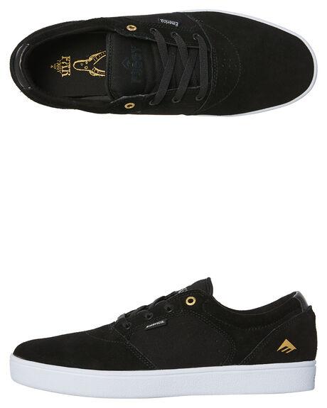 564ffb8a9c34b BLACK WHITE GOLD MENS FOOTWEAR EMERICA SKATE SHOES - 6102000123-715