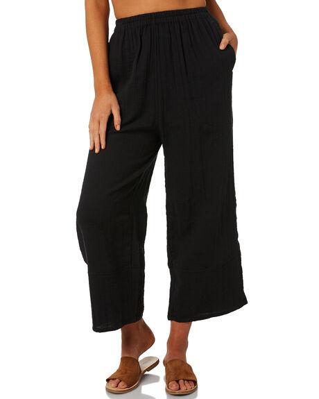 BLACK WOMENS CLOTHING BILLABONG PANTS - 6581402BLK
