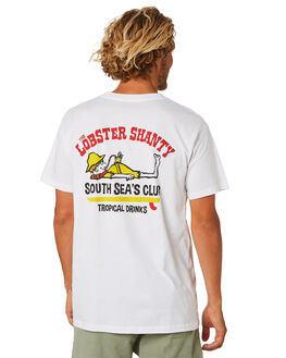 WHITE MENS CLOTHING THE LOBSTER SHANTY TEES - LBSSOUTHWHT