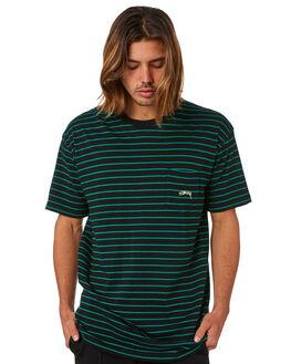BLACK MENS CLOTHING STUSSY TEES - ST083100BLK