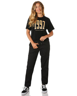 BLACK WOMENS CLOTHING HUFFER TEES - WTE91S42-213BLK