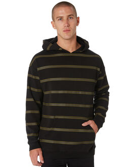 BLACK MENS CLOTHING GLOBE JUMPERS - GB01933008BLK