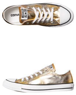 GOLD METALLIC WOMENS FOOTWEAR CONVERSE SNEAKERS - SS157655GOLD_W