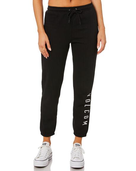 BLACK WOMENS CLOTHING VOLCOM PANTS - B1212076BLK
