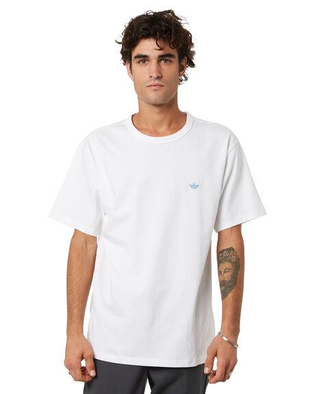 WHITE HAZY BLUE MENS CLOTHING ADIDAS TEES - GL9939WHB