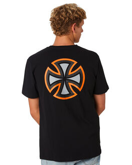 BLACK MENS CLOTHING INDEPENDENT TEES - IN-MTD9316BLK
