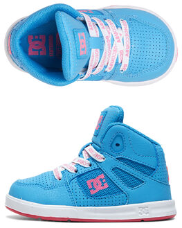 LIGHT BLUE KIDS BOYS DC SHOES FOOTWEAR - ADTS700053-LBL