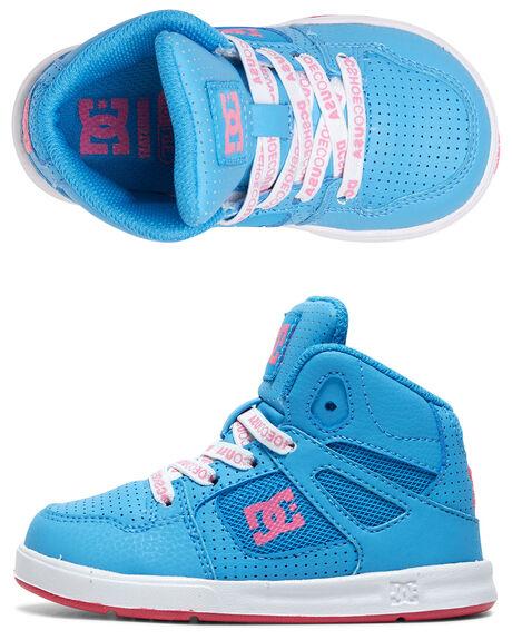 LIGHT BLUE KIDS BOYS DC SHOES FOOTWEAR - ADTS700053-LBL