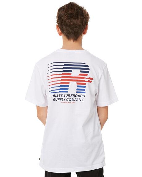 WHITE KIDS BOYS RUSTY TEES - TTB0584WHT