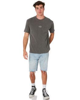 BLACK MENS CLOTHING RUSTY TEES - TTM2281BLK