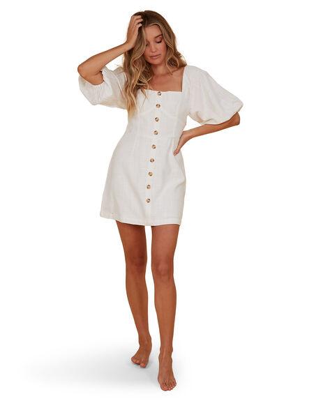 WHITE WOMENS CLOTHING BILLABONG DRESSES - BB-6507693M-WHT