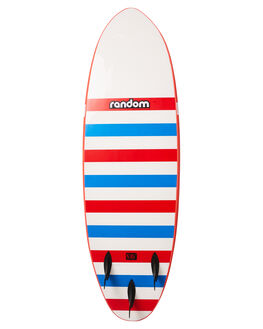 RED WHITE STRIPE BOARDSPORTS SURF RANDOM SOFTBOARDS SOFTBOARDS - CLSSSB60RED
