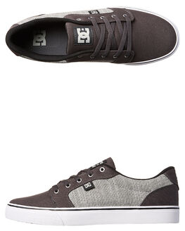 CHARCOAL GREY MENS FOOTWEAR DC SHOES SNEAKERS - ADYS300036011