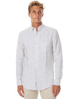 WHITE BLACK MENS CLOTHING ASSEMBLY SHIRTS - AM-W1726WHTB
