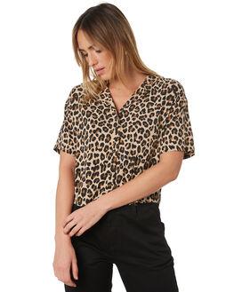 LEOPARD WOMENS CLOTHING BRIXTON FASHION TOPS - 01160-LEPRD